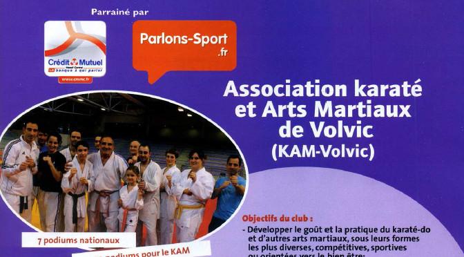 Le KAM-Volvic en vitrine de Sports Auvergne Sept.-Oct. 2013